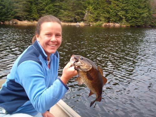 Women Bass Fishing in Maine