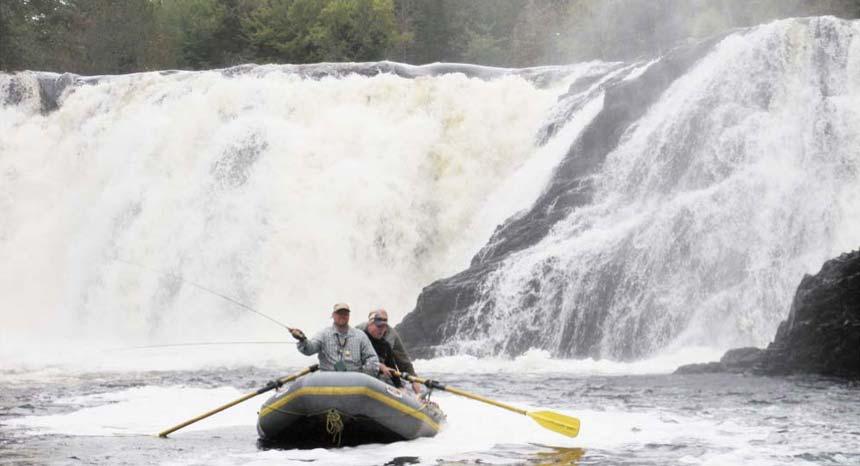 Guided Fishing boat at Grand Falls