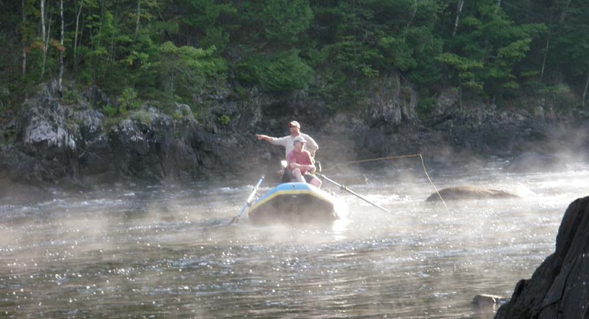 Fly Fishing Kennebec River mist