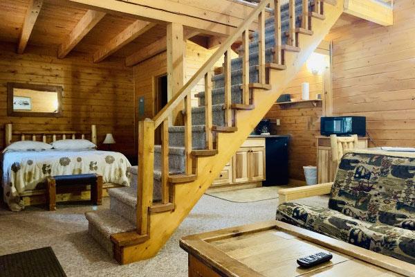 Log cabin style condo