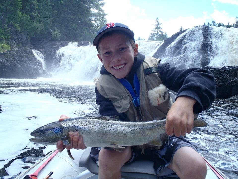 Fishing at Grand Falls