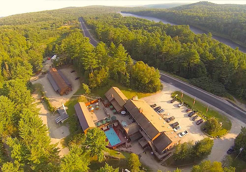 Aerial View of Northern Outdoors Adventure Resort