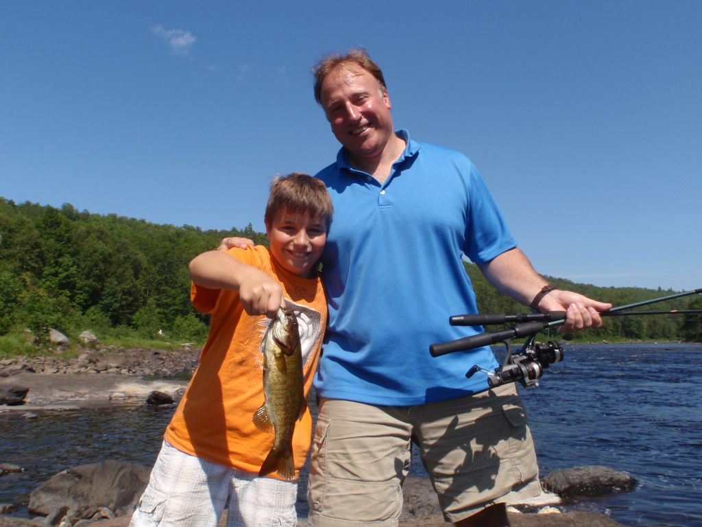 Father and son Bass Fishing