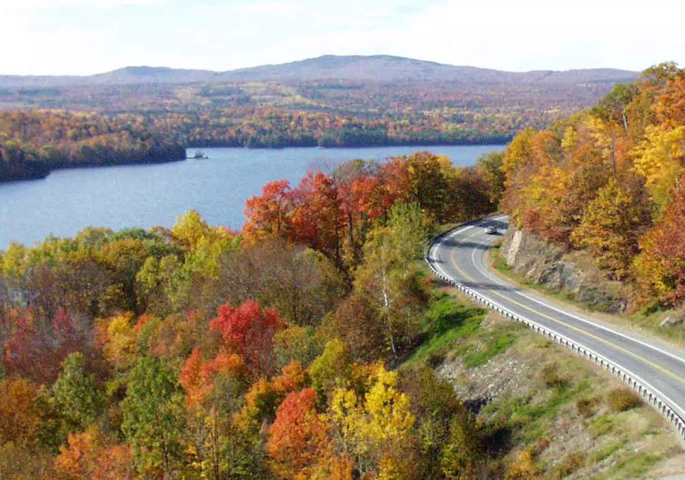 Maine Scenic Byway in The Forks Fall